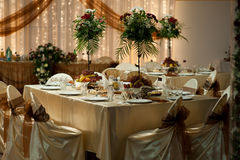 Table setting - Wedding stock image