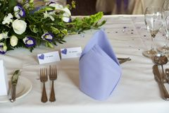 Table setting at wedding Royalty Free Stock Photography