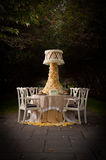 Table Setting for Wedding Stock Image