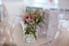 Table setting for wedding Royalty Free Stock Photos
