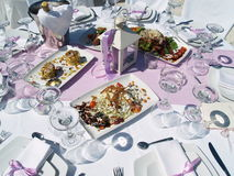 Table setting for wedding Stock Photography