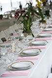 Table setting at a wedding Stock Images