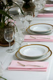 Table setting at a wedding Royalty Free Stock Photos