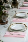 Table setting at a wedding royalty free stock photos