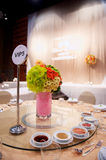 Table setting in wedding ceremony Royalty Free Stock Photo