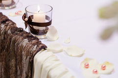 Table setting for wedding dinner Stock Images