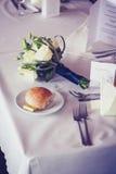 Table setting at wedding reception Stock Photos