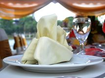 Table setting at wedding reception. Outdoor Stock Images