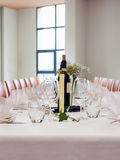Table setting at wedding reception Royalty Free Stock Photo