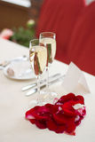Table setting for a wedding, Valentines Day or din Stock Photo