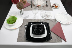 Table Setting With Plates Stock Images