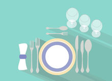 Table settings Royalty Free Stock Images