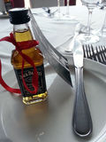 Table settings jack Daniels daytime Royalty Free Stock Images