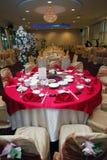Table Setup. Of a wedding banquet royalty free stock photos