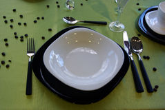 Table setup Stock Image