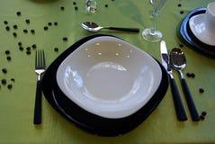 Table setup Stock Image