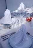Table setup. Fine table setting in  restaurant (close-up Stock Photo