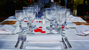 Table setup in outdoor cafe. Small restaurant in a hotel summer vacations meal & Table Setup Hotel Restaurant Stock Images - 353 Photos