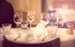 Table setup Royalty Free Stock Photo