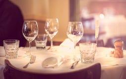 Table setup Royalty Free Stock Photo