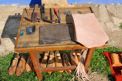 Table of shoemaker Stock Photography