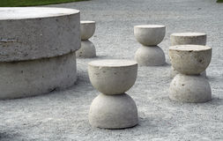 Table of silence. One of famous sculptures of Brancusi Royalty Free Stock Photography