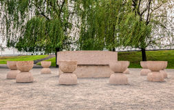 Table Of Silence, Constantin Brancusi Artwork Royalty Free Stock Images