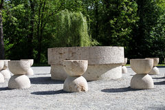 The Table of Silence of Constantin Brancusi, Targu Jiu, Romania. The Table of Silence of sculptor Constantin Brancusi, Targu Jiu, Romania Stock Photography