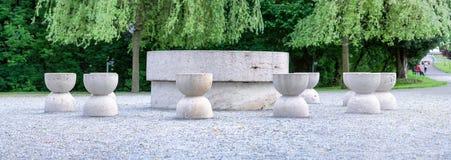 Table Of Silence Panorama Targu Jiu Stock Images