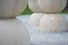 Table of silence: sculpture details. Details of the famous sculpture by Brancusi, found in Romania, Targu Jiu Stock Image