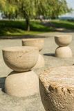 The Table Of Silence. Is A Stone Sculpture Made By Constantin Brancusi in 1938 In Targu Jiu, Romania Stock Photo