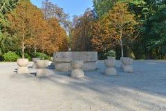 `The Table of Silence` at Targu-Jiu, Romania. Stock Photo