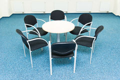 Table and six chairs Stock Image