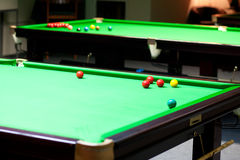 The snooker tables Royalty Free Stock Image