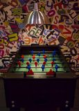 Table soccer in game room. royalty free stock photography