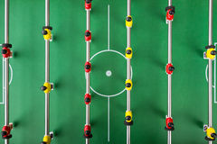 Table soccer. Game,look down Stock Photography