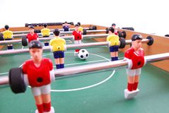 Table soccer. Football game detail Royalty Free Stock Image