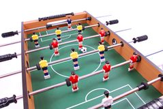Table soccer. Football game detail Stock Photography