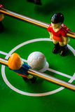 Table Soccer. Or Foosball Kicker Game, Selective Focus, Retro Tone Effect Stock Photo