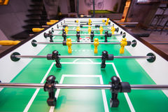 Table soccer or football kicker game. Entertainment Royalty Free Stock Images