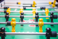 Table soccer or football kicker game. Entertainment Stock Image