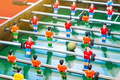 Table Soccer or Football Kicker Game with Player Figures. Table Soccer or Football Kicker Game with Player Figures Royalty Free Stock Photography
