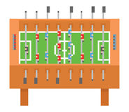 Table soccer pixel art vector illustration. kicker Royalty Free Stock Image