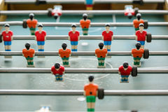 Table soccer players from top down Stock Images