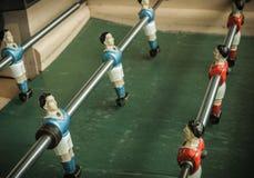 Table Soccer. A retro table football game Royalty Free Stock Photos