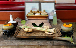 Table with spa elements Stock Images