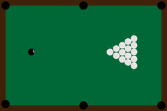 Table and spheres for billiards Royalty Free Stock Image