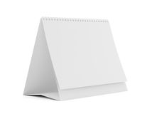 Table spiral calendar with blank pages Stock Image