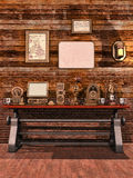 Table with steampunk objects Stock Photography