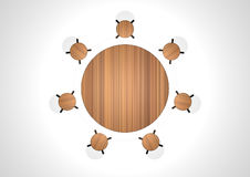 Table and stool. 3d image of table and stool Royalty Free Stock Images